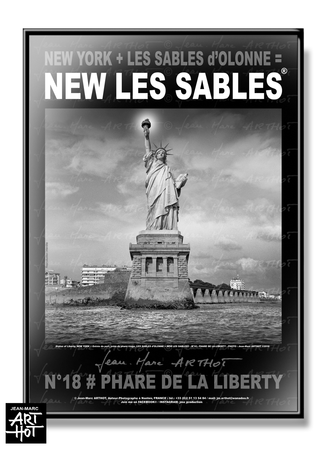 AFFICHE NEW LES SABLES N°18-Phare de la Liberty
