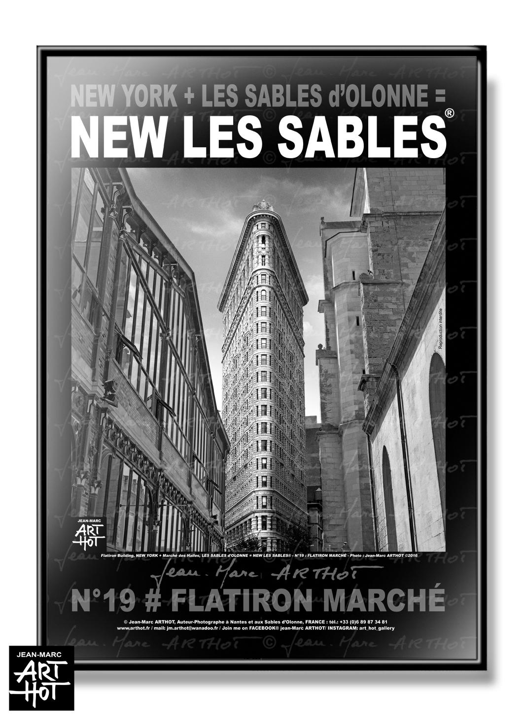 AFFICHE NEW LES SABLES N°19-Flatiron Marché