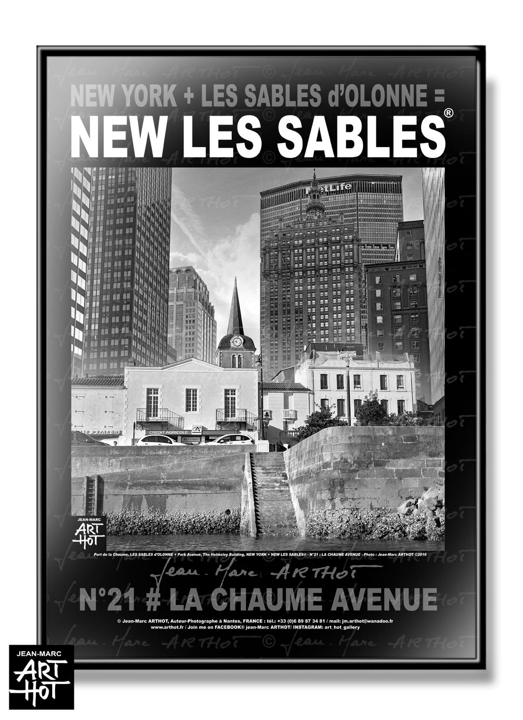 AFFICHE NEW LES SABLES N°21-La Chaume Avenue