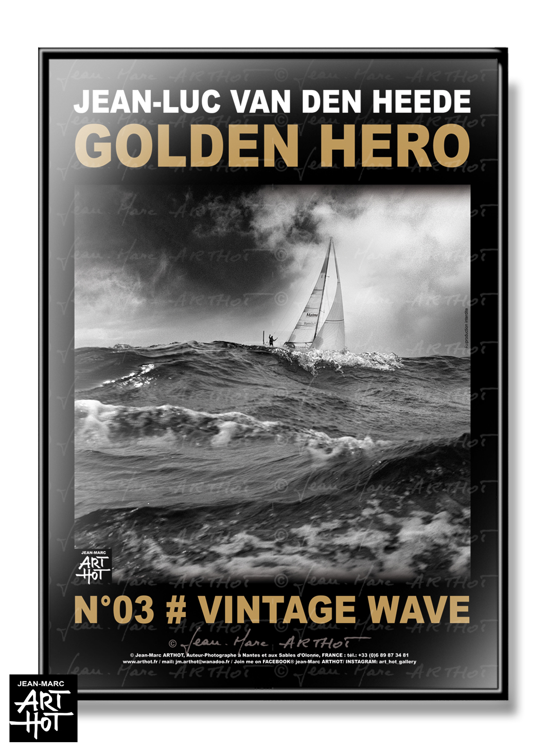 AFFICHE VDH-GOLDEN HERO-N°03-Vintage wave
