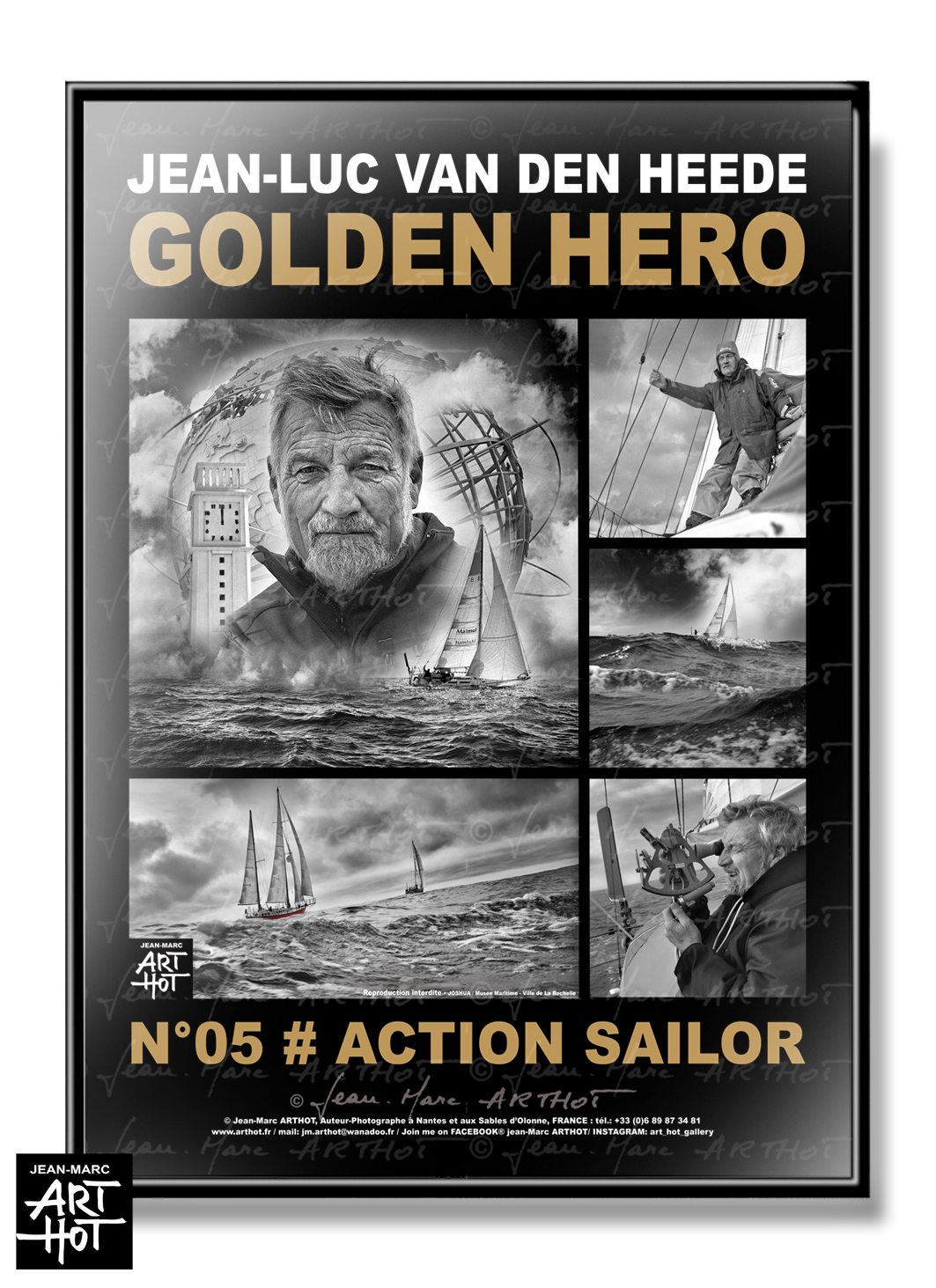 AFFICHE VDH-GOLDEN HERO-N°05-Action Sailor