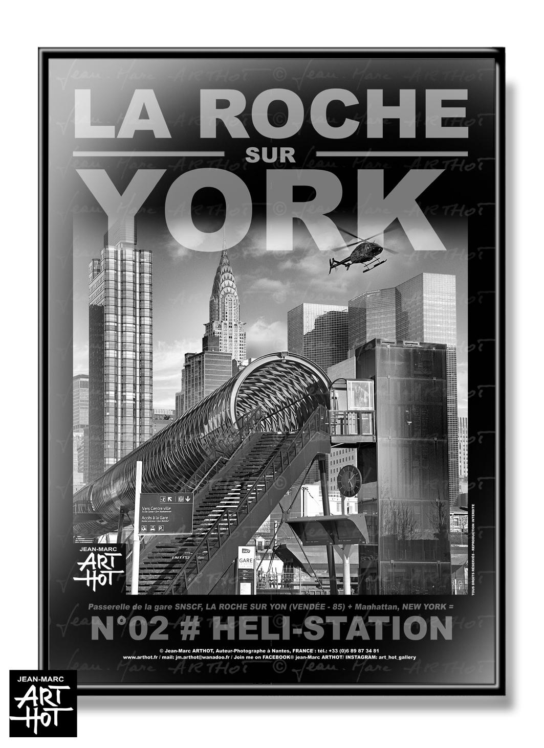 AFFICHE «LA ROCHE SUR YORK» - N°02-Heli Station