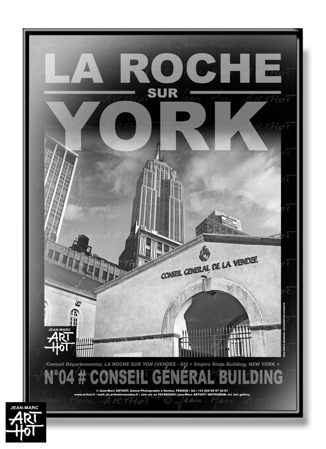 AFFICHE «LA ROCHE SUR YORK» - N°04-Conseil Général Building