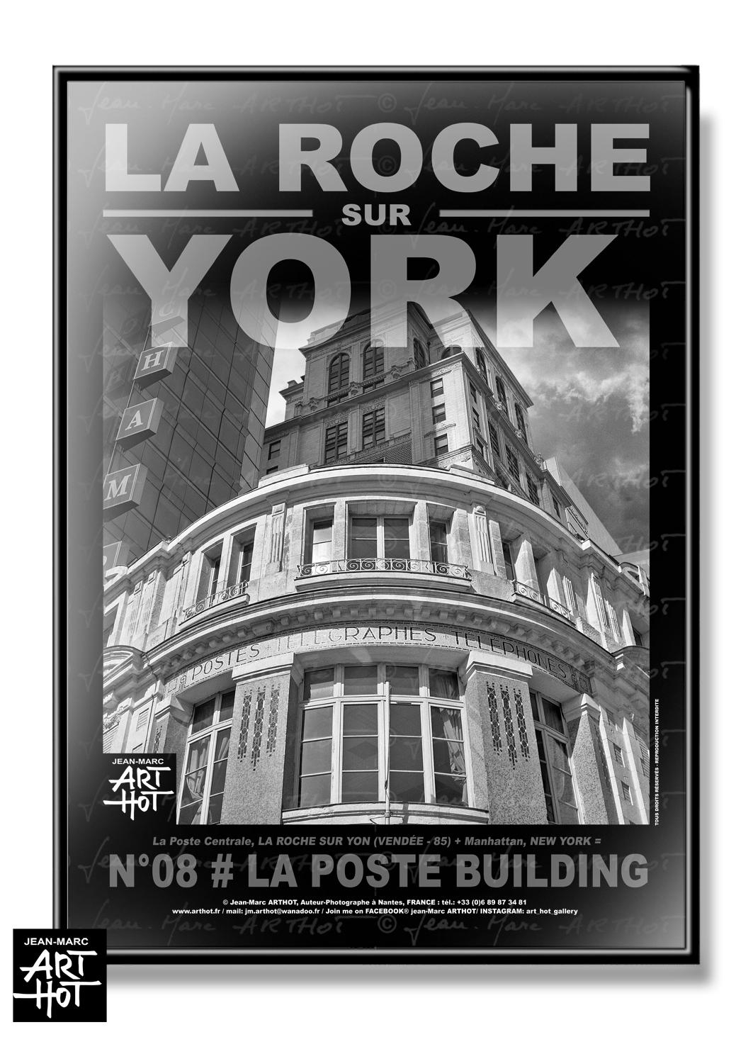 AFFICHE «LA ROCHE SUR YORK» - N°08- La Poste Buildings