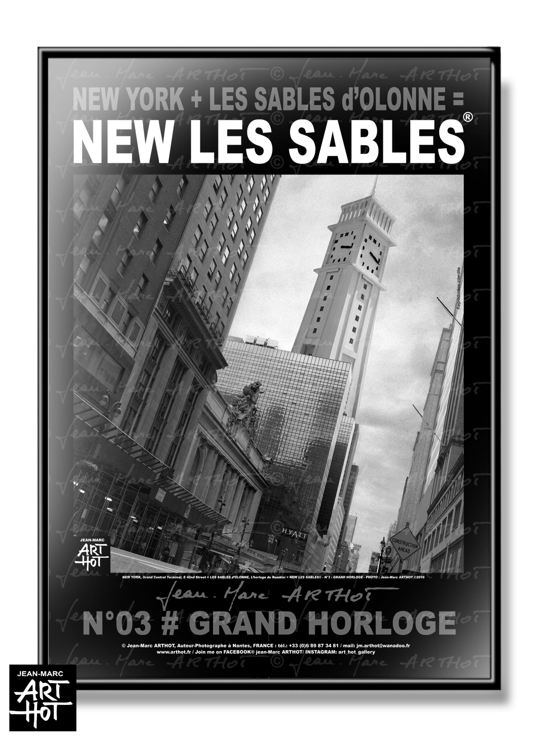 AFFICHE NEW LES SABLES N°03-Grand Horloge