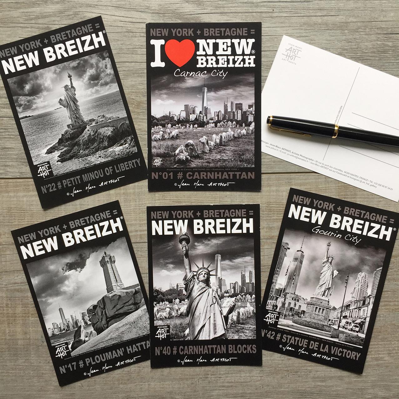 LOT A - 5 CARTES POSTALES NEW BREIZH - Grands sites