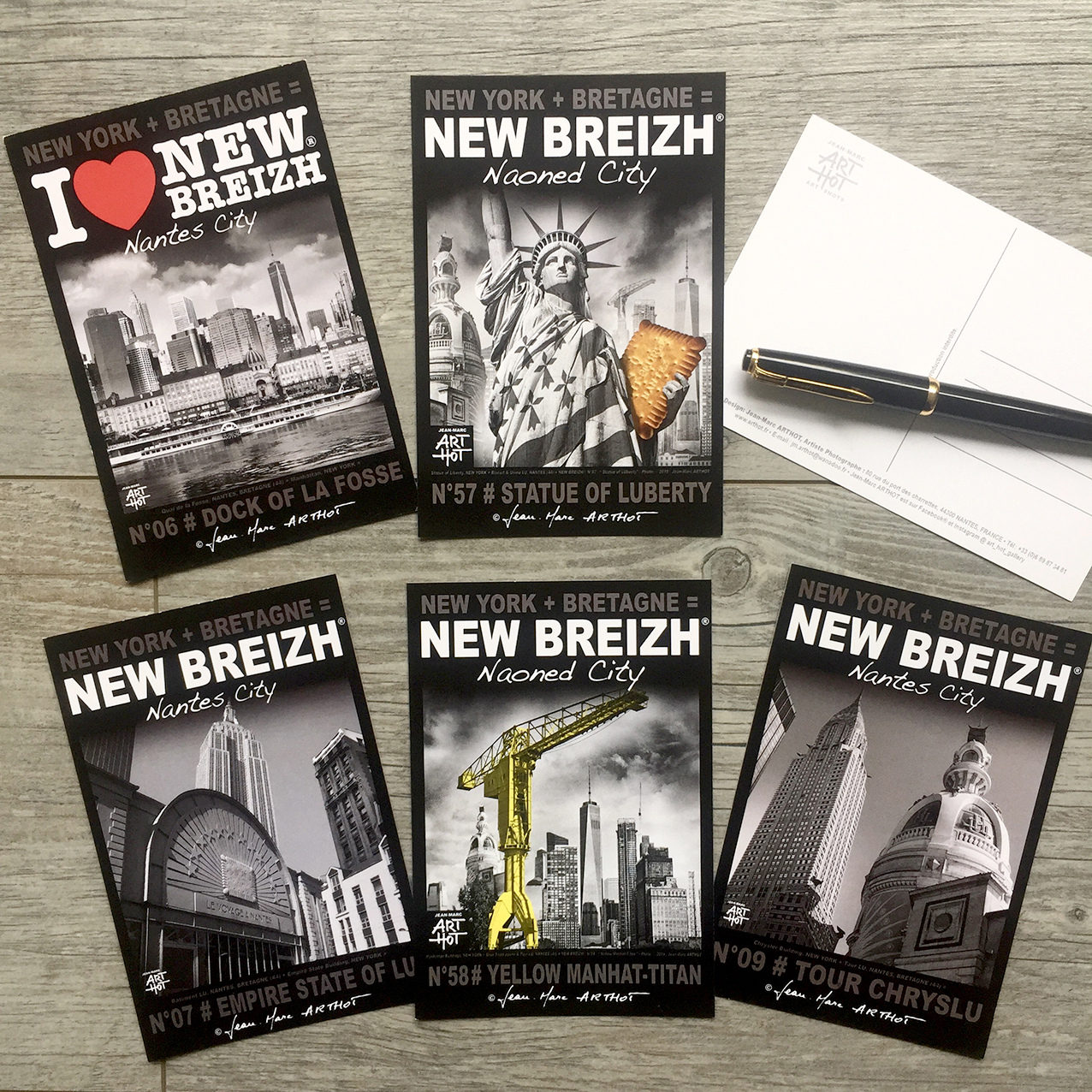 LOT B - 5 CARTES POSTALES NEW BREIZH - Naoned City 01