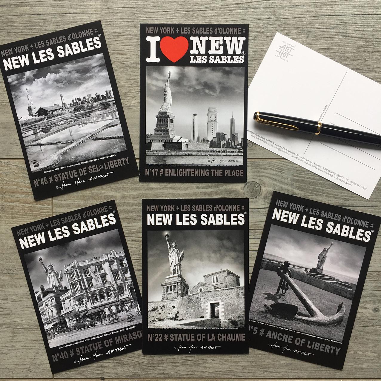 LOT B - 5 CARTES POSTALES - NEW LES SABLES -Liberty sur Mer