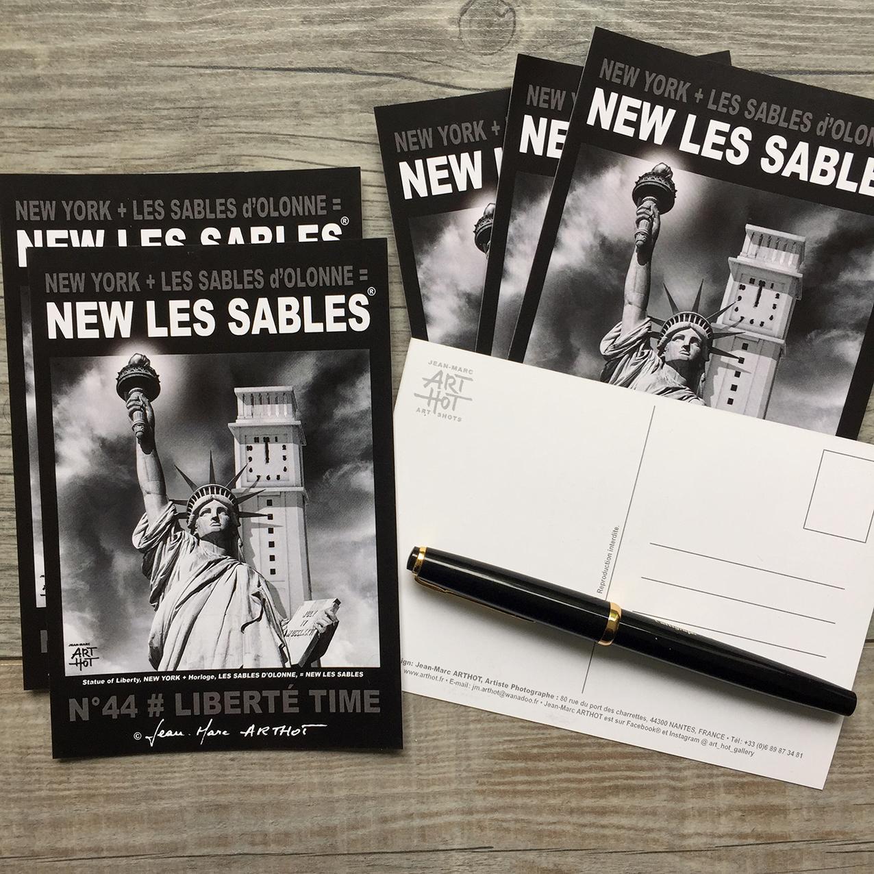LOT D - 5 CARTES POSTALES - NEW LES SABLES - Liberté Time