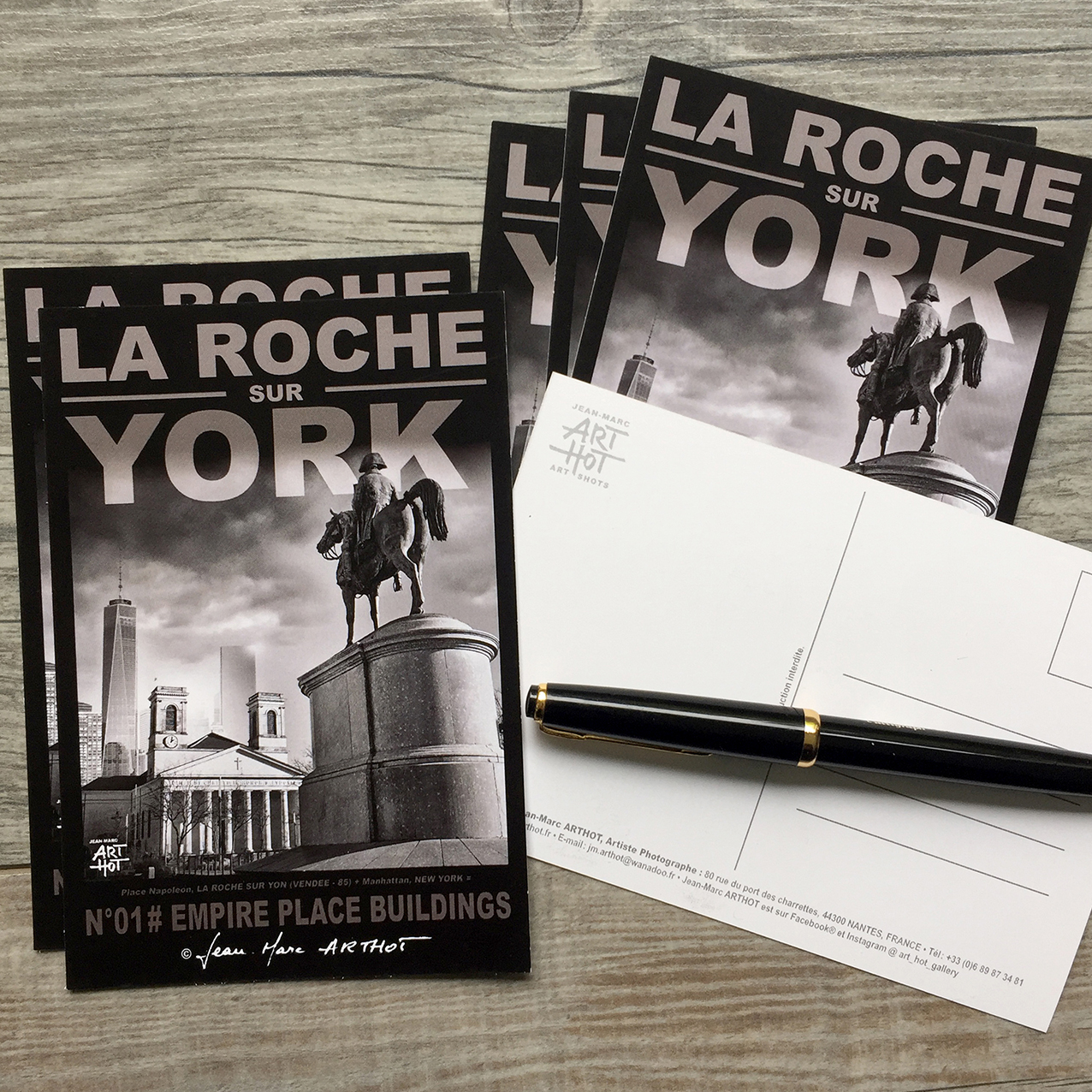 LOT A - 5 CARTES POSTALES LA ROCHE SUR YORK - Empire Place Buildings