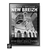 AFFICHE NEW BREIZH N33-Breizh Space Ship