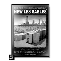 AFFICHE NEW LES SABLES N°01-Remblai Beach