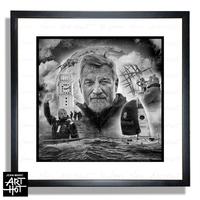 "PHOTO D'ART ""VDH""-GOLDEN HERO-N°COLLECTOR: Arrivée N°1 - 50 x 50 cm"