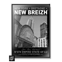 AFFICHE NEW BREIZH N°07-Empire State Of LU