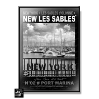 AFFICHE NEW LES SABLES N°02-Port Marina
