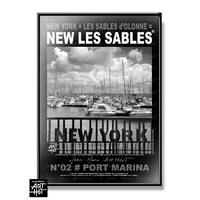 AFFICHE NEW LES SABLES N°03-Grand Horloge