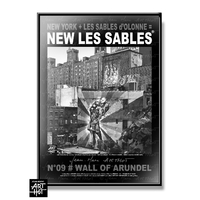 AFFICHE NEW LES SABLES N°09-Wall Of Arundel