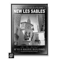 AFFICHE NEW LES SABLES N°10-Mairie Building
