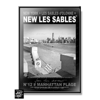 AFFICHE NEW LES SABLES N°12-Manhattan Plage