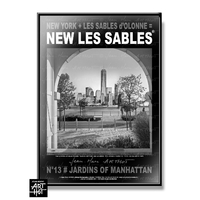 AFFICHE NEW LES SABLES N°13-Jardins of Manhattan