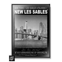 AFFICHE NEW LES SABLES N°14-Armandèche of Brooklyn