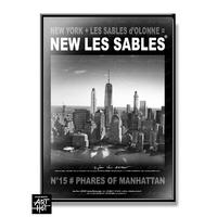 AFFICHE NEW LES SABLES N°15-Phares of Manhattan