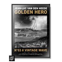 """AFFICHE """"VDH""""-GOLDEN HERO-N°03-Vintage wave"""