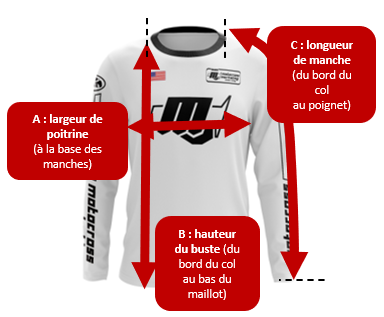 maillot motocross vintage tailles red