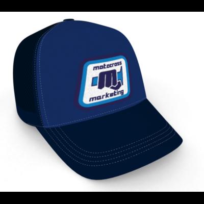 Casquette brodée trucker MXM Classic - Bleu Bleu