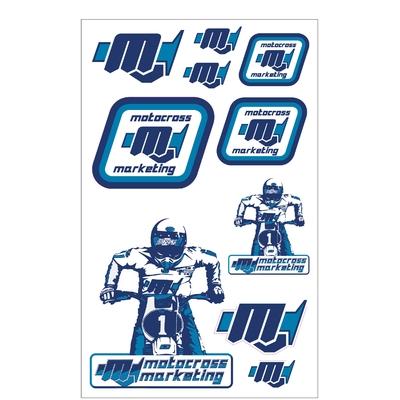 10 Stickers MXM Bleu / Blanc