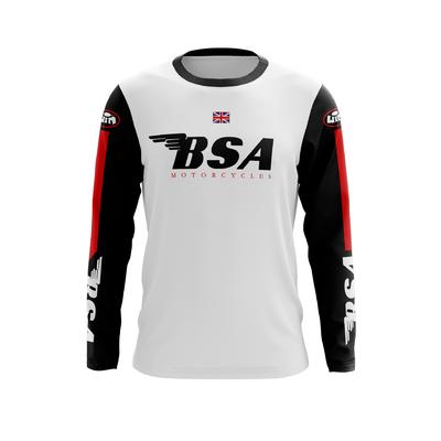 BSA Coton Blanc Noir Rouge