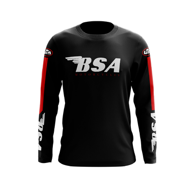 BSA Coton Noir Noir Rouge