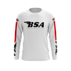Maillot G BSA Blanc Rouge Face
