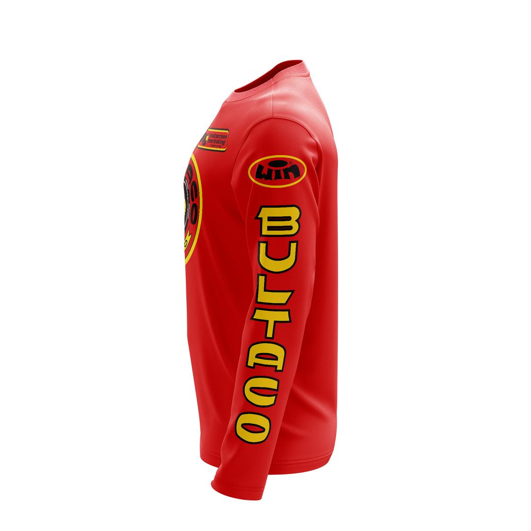 Maillot Trial BULTACO Ceomoto Rouge Profil