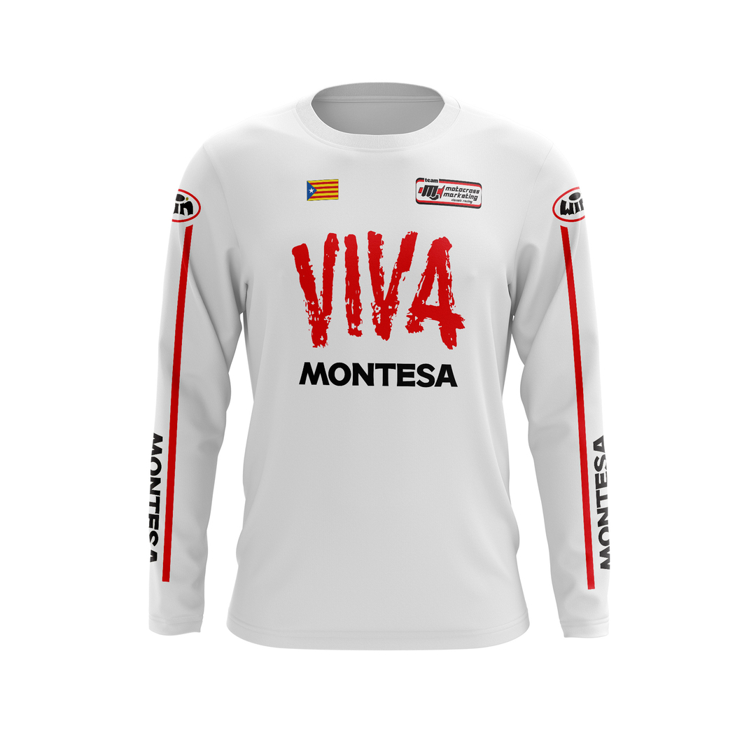 Maillot Trial MONTESA Blanc Face
