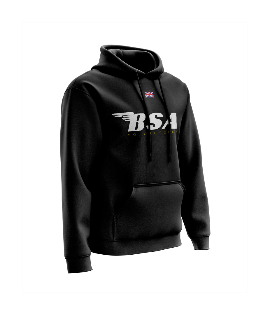 Sweat BSA Chest Noir - Blanc Jaune