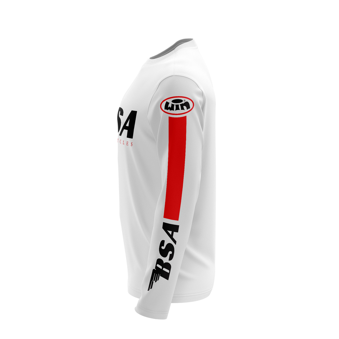 Maillot G BSA Blanc Rouge Profil