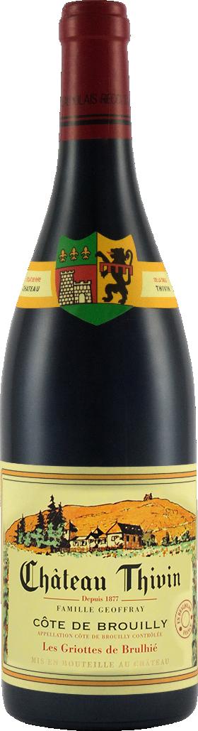 Cote de Brouilly du Chateau Thivin Cuvée Les Griottes du Brulhié 2018