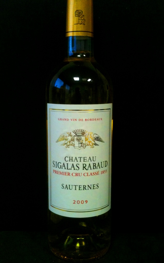 Sauternes 1er Cru Classé Chateau Sigalas Rabaud 2009