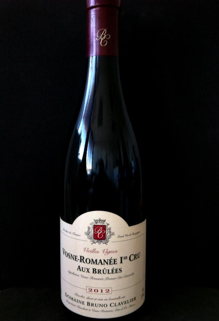 B Clavelier Vosne Romanee 1er Cru  Aux Brulees Vieilles Vignes 2012