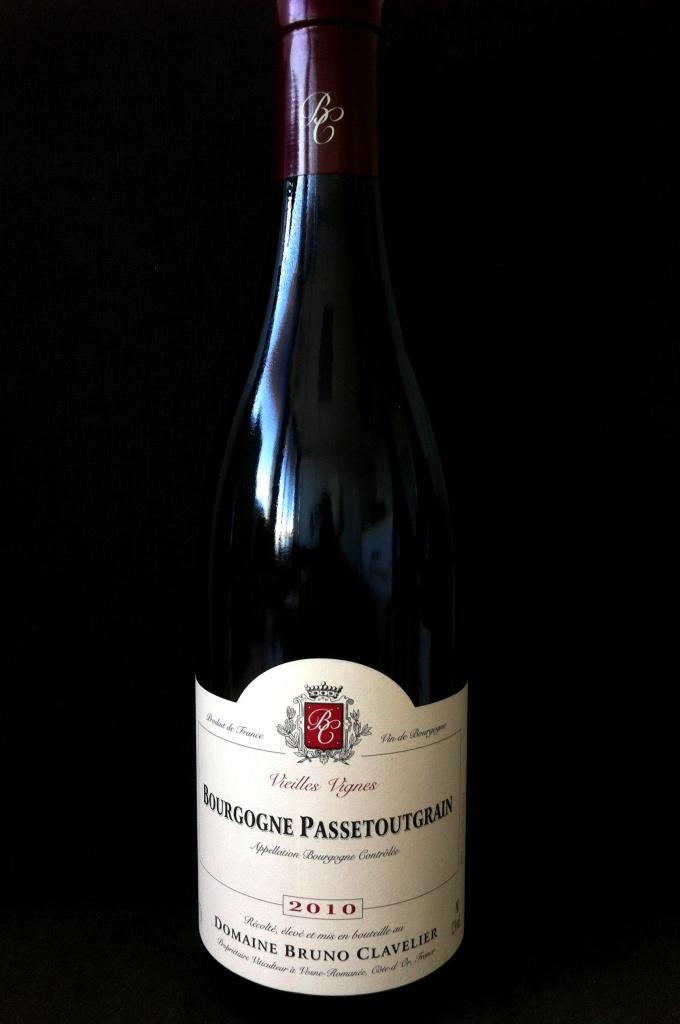 B Clavelier Passetoutgrain Bourgogne Vieilles Vignes 2010