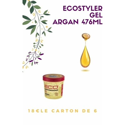 carton 6 gels ecostyler  476ml ARGAN