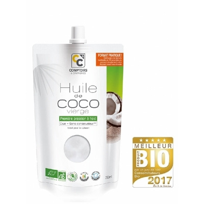 Huile de coco vierge bio Comptoirs & Compagnies - 1L