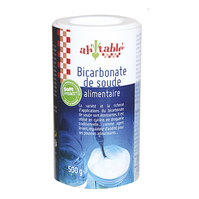 Bicarbonate de Soude alimentaire Ah table - 500g