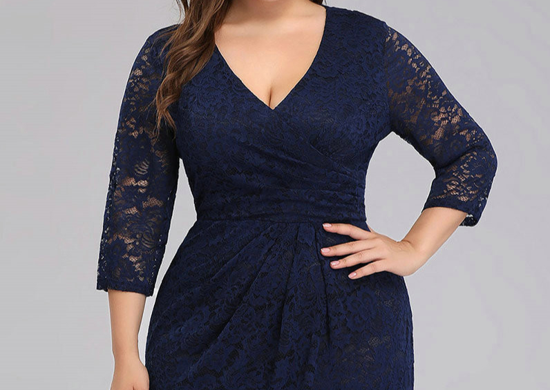 Robe Sirene Longue Grande Taille Robes Pour Femmes Rondes