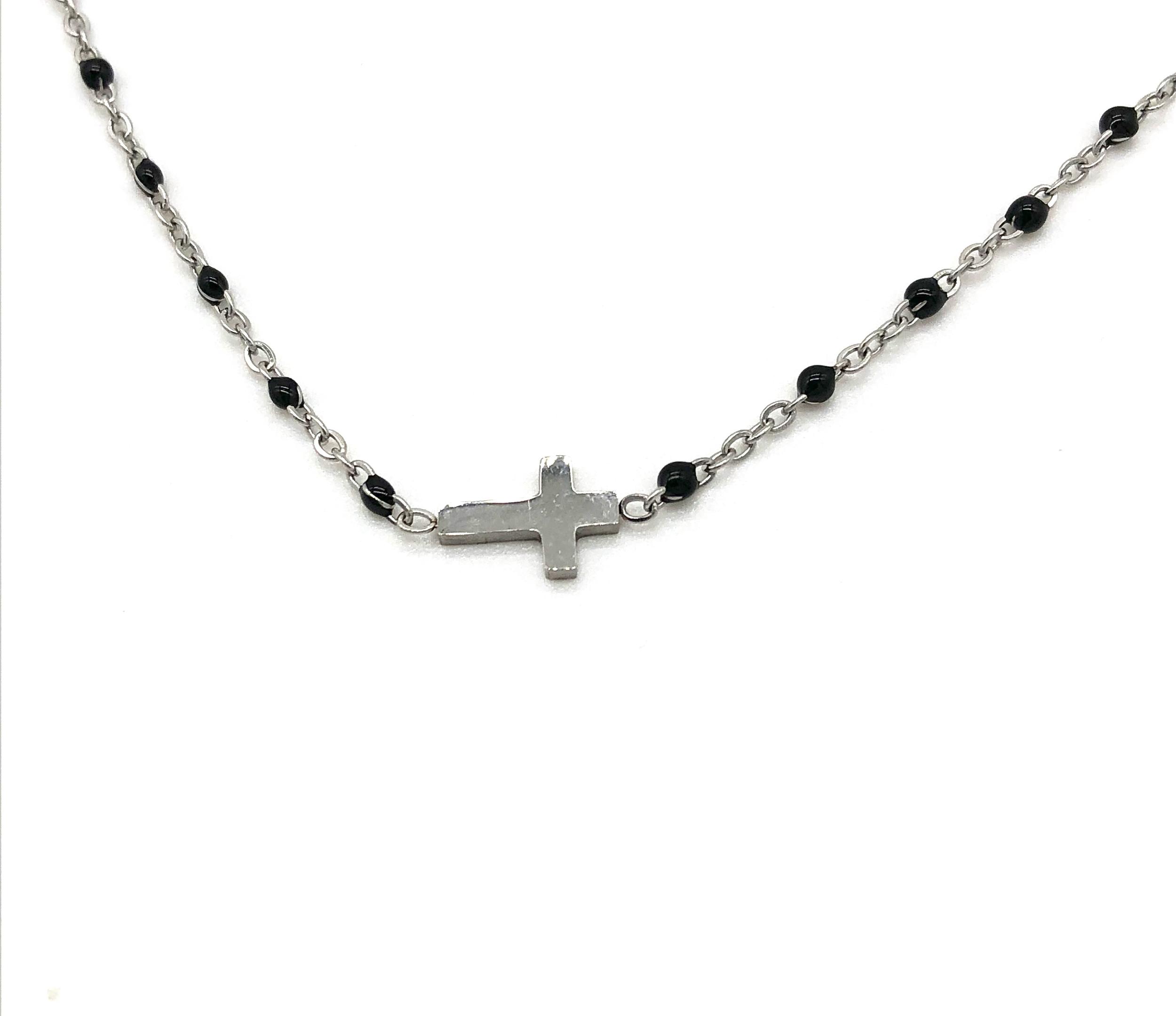 collier perle et croix
