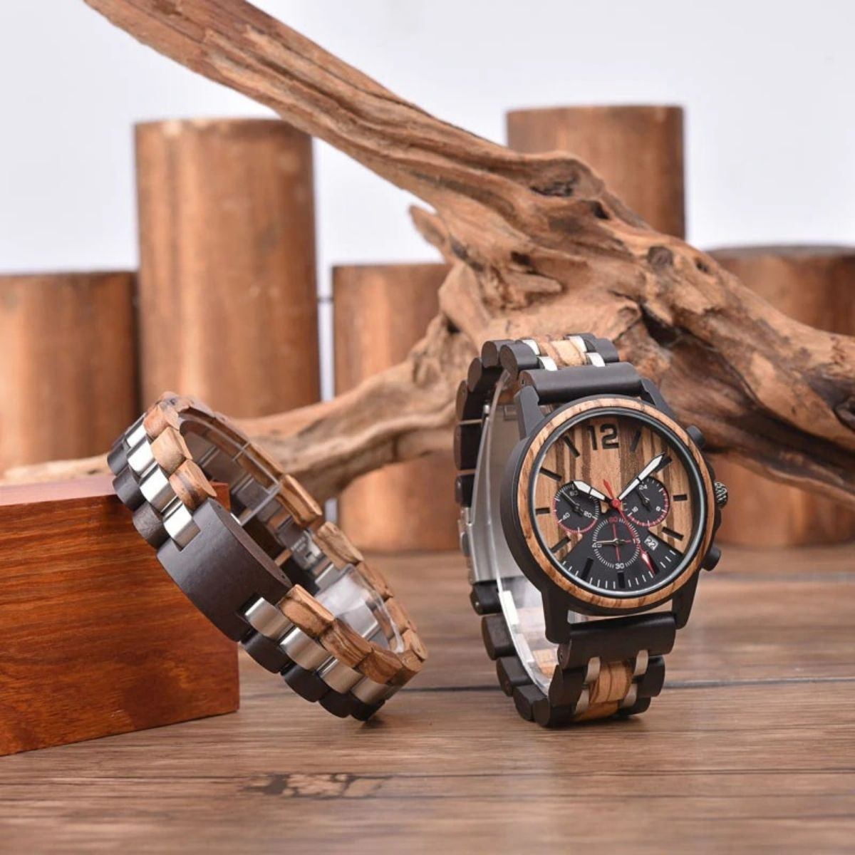 Coffret cadeau montre en bois Urat (6)