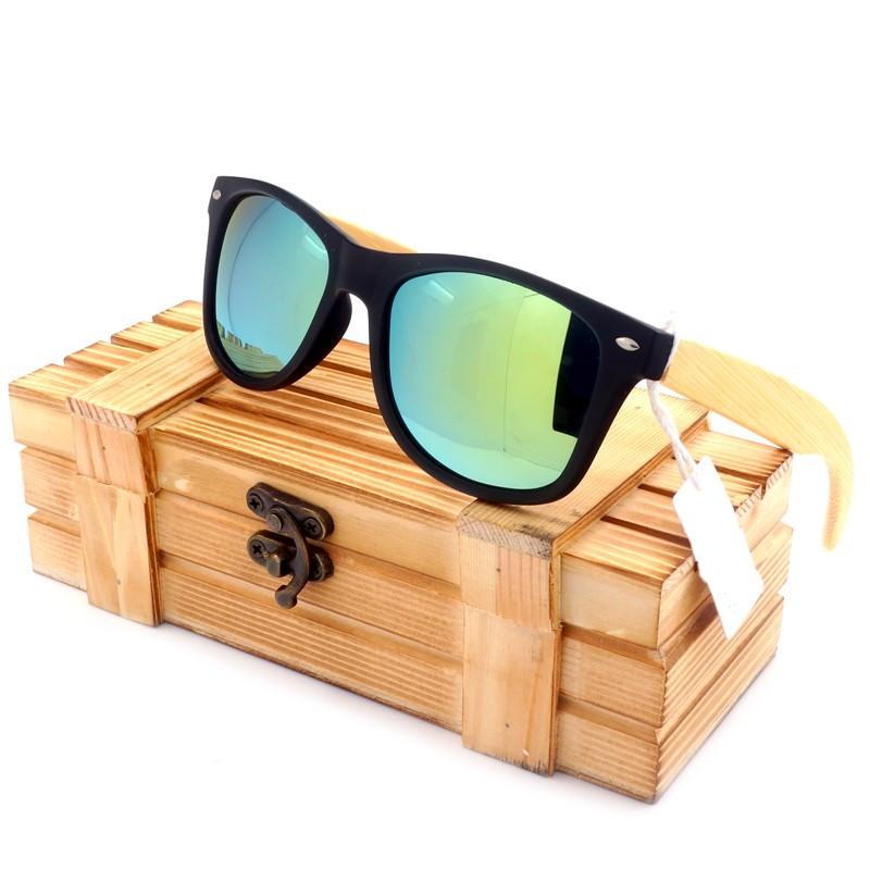 Lunettes de soleil en bois et pvc Lucky-Bay