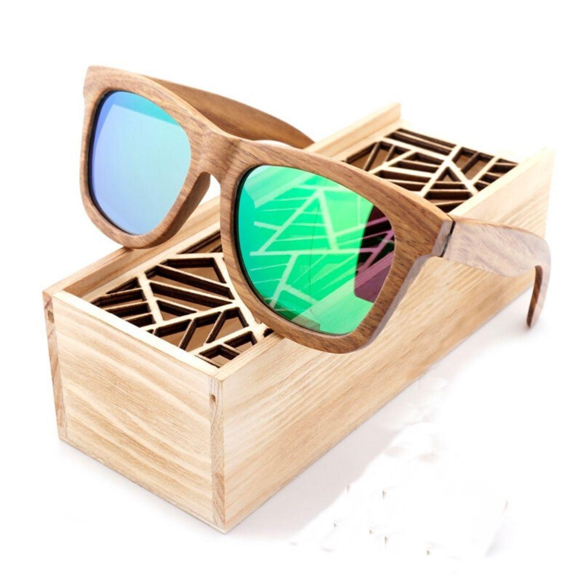 Lunettes de soleil en bois naturel Siesta