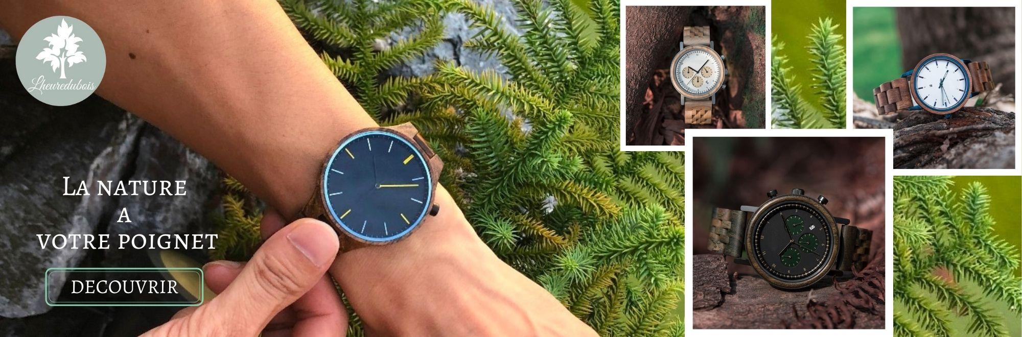 Lheuredubois votre boutique de montres en bois et accessoires créer par la nature